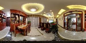 深度空间装饰南宁公司|中海国际**栋01房精品样板房【中式风格】VR全景赏析